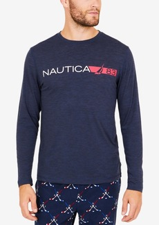 Nautica Men's Space-Dyed Logo Long-Sleeve T-Shirt