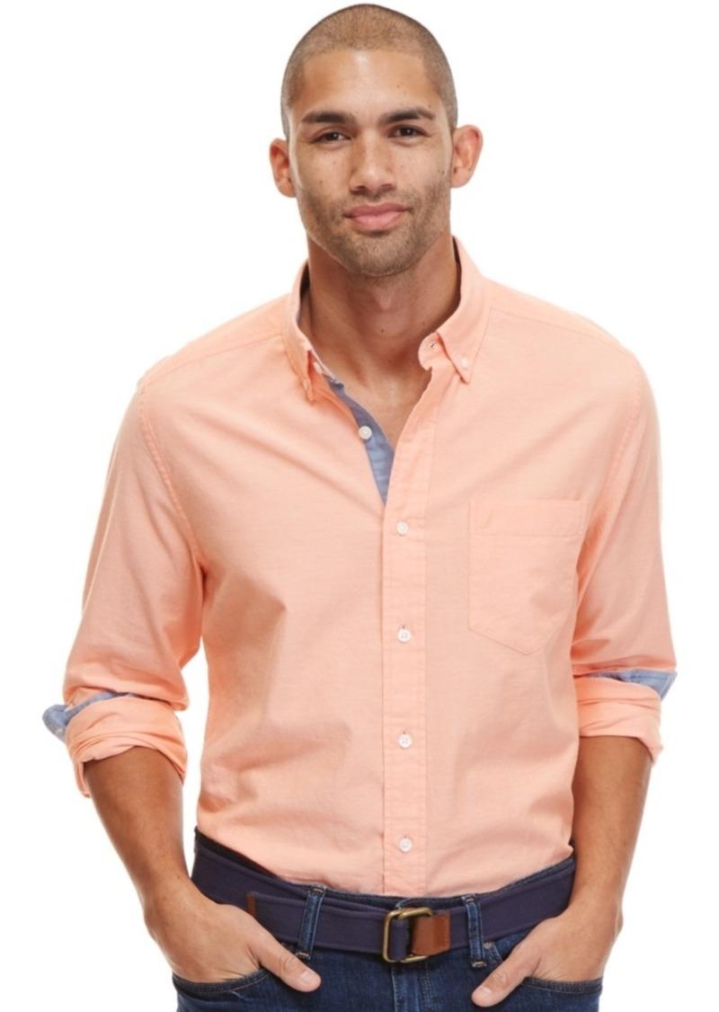 Nautica Men's Spencer Long-Sleeve Contrast-Trim Oxford Shirt