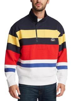 Nautica Men's Stand-Collar Quarter-Zip Stripe Sweatshirt