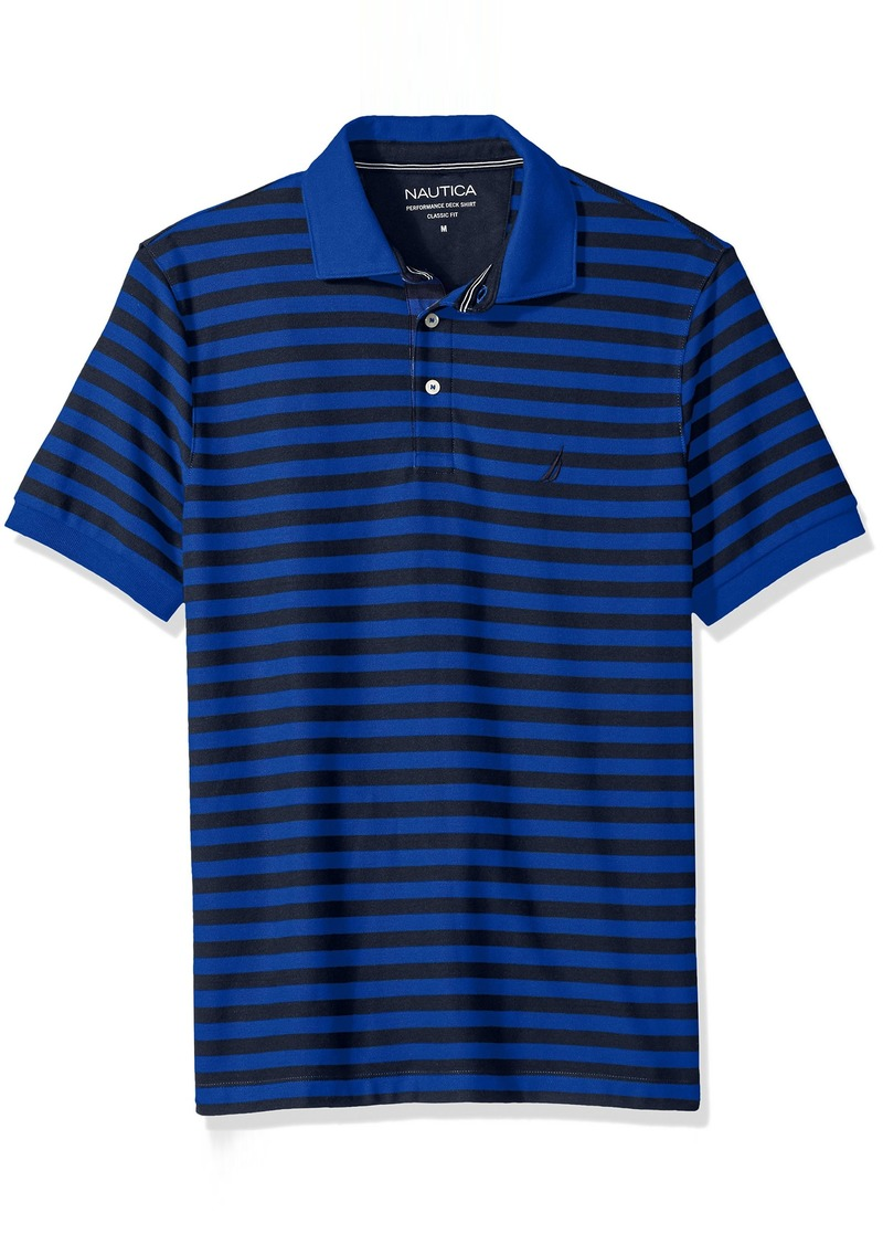 Nautica Men's Standard Classic Short Sleeve Stripe Polo Shirt