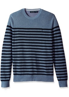 Nautica Men's Standard Long Sleeve Classic Bretton Stripe Sweater