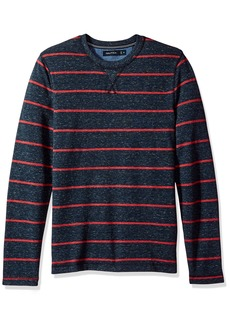 Nautica Men's Standard Long Sleeve Cotton Pique Crew Neck Shirt