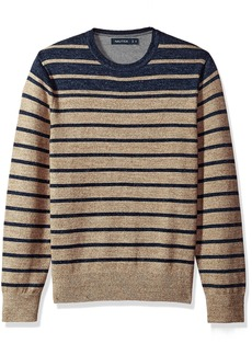 Nautica Men's Standard Long Sleeve Engineered Stripe Sweater