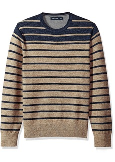 Nautica Men's Standard Long Sleeve Engineered Stripe Sweater