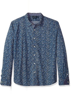 Nautica Men's Standard Long Sleeve Floral Print Button Down Shirt