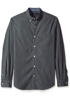 Nautica Men's Standard Long Sleeve Gingham Plaid Button Down Shirt