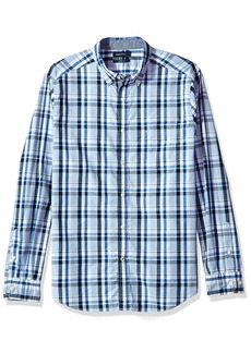 Nautica Men's Standard Long Sleeve Plaid Button Down Shirt  X-Large