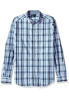 Nautica Men's Standard Long Sleeve Plaid Button Down Shirt