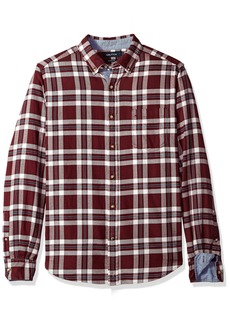 Nautica Men's Standard Long Sleeve Plaid Cozy Flannel Button Down Shirt