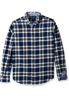 Nautica Men's Standard Long Sleeve Plaid Cozy Flannel Button Down Shirt