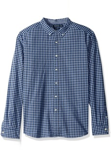 Nautica Men's Standard Long Sleeve Plaid Stretch Oxford Button Down Shirt