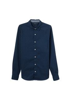 Nautica Men's Standard Long Sleeve Print Stretch Oxford Button Down Shirt