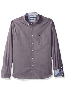 Nautica Men's Standard Long Sleeve Small Plaid Button Down Shirt
