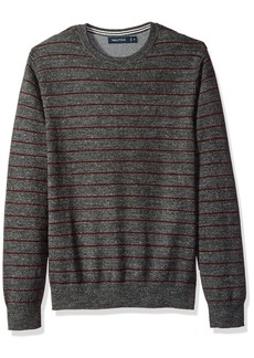 Nautica Men's Standard Long Sleeve Striped Crew Neck Sweater