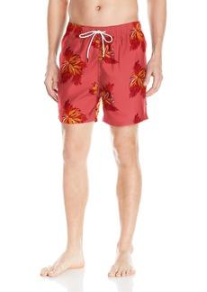 Nautica Men's Standard Quick Dry Floral Print Swim Trunk