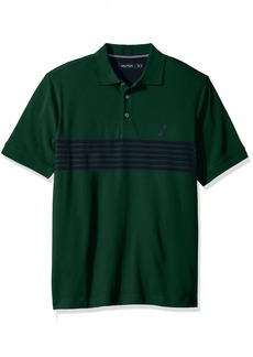 Nautica Men's Standard Short Sleeve Striped Polo Shirt
