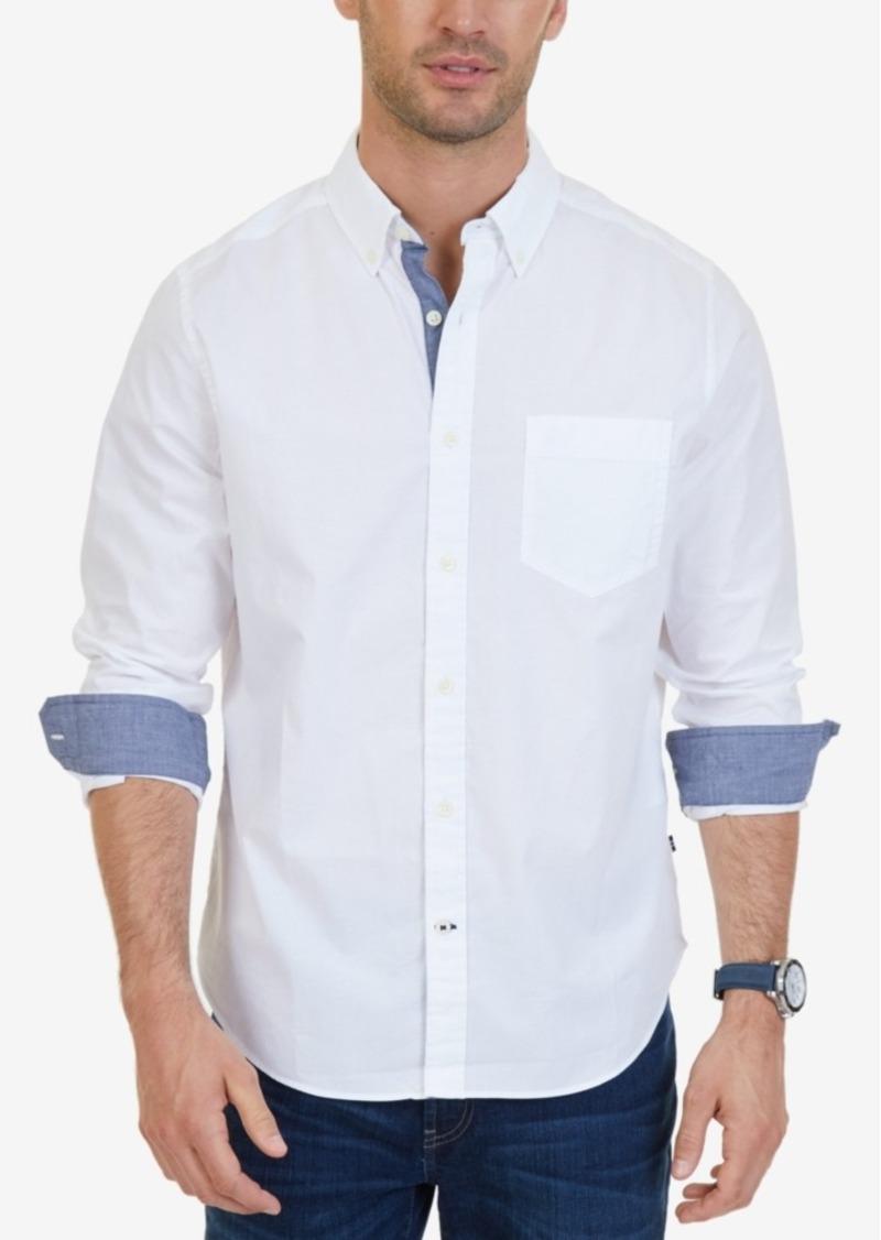 Nautica Men's Classic-Fit Stretch Button-Down Shirt