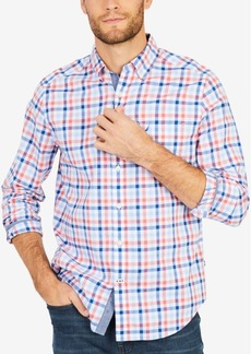 Nautica Men's Stretch Coastal Plaid Shirt