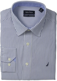 "Nautica Men's Stripe Point Collar Dress Shirt  17"" Neck 34""-35"" Sleeve"