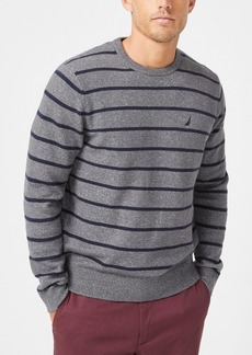 Nautica Men's Sustainable Striped Crewneck Sweater