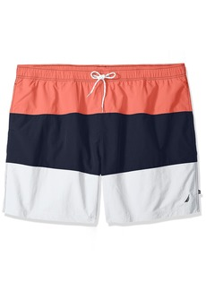 Nautica Men's Tall Quick Dry Color Block Swim Trunk (t71007)