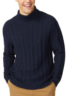 Nautica Men's Textured Cable Turtleneck Sweater