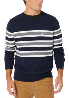 Nautica Men's Textured Stripe Crewneck Sweater