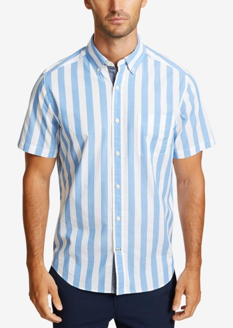Nautica Men's Thick Striped Short Sleeve Shirt