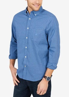 Nautica Men's Tiny Plaid Shirt