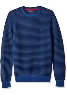 Nautica Men's Tonal Striped Sweater  M