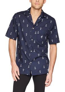 Nautica Men's Traditional Cotton Check Woven Pajama Shirt Sleepwear