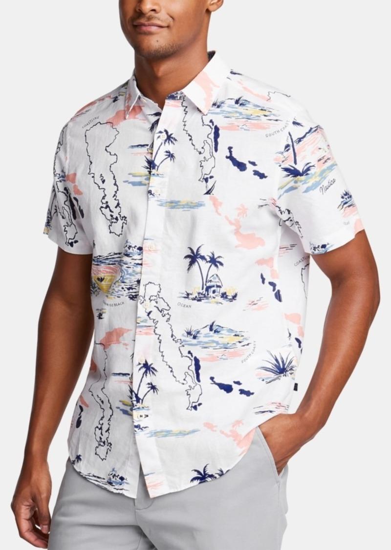 Nautica Men's Tropical Graphic Shirt, Created for Macy's