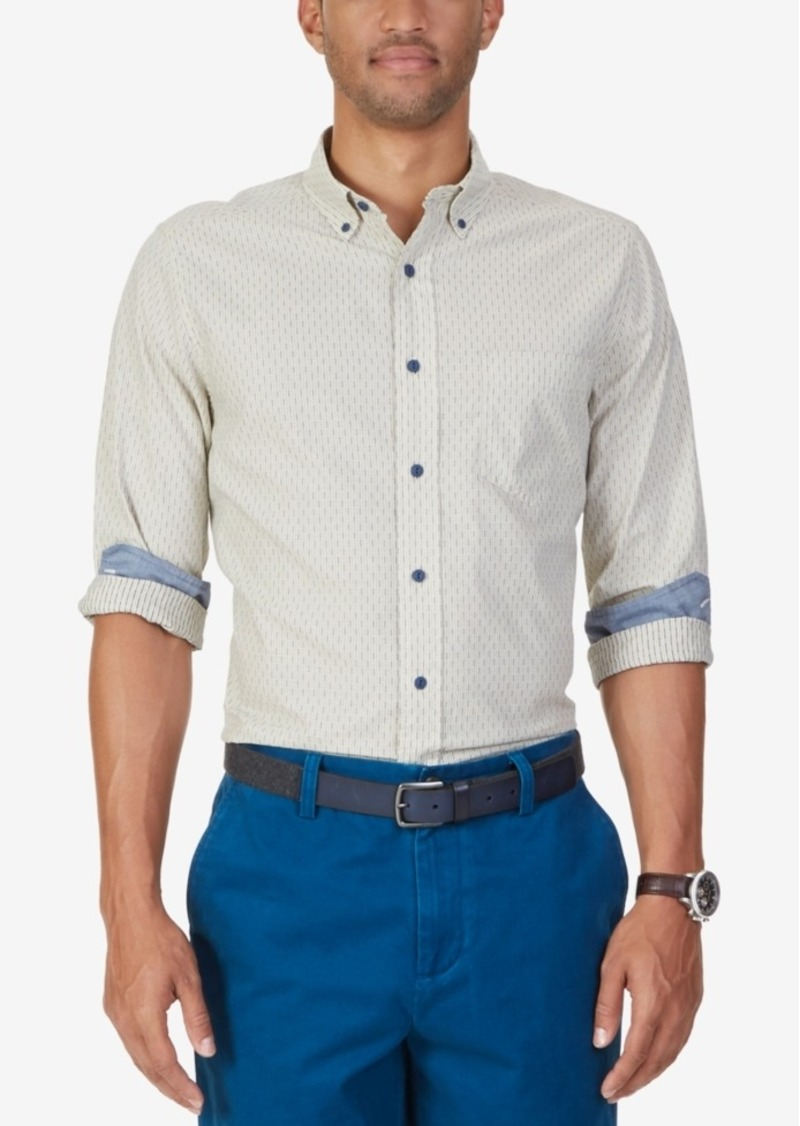 Nautica Men's Vertical-Dash Long-Sleeve Shirt