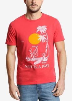 Nautica Men's Vintage Palm Beach Graphic T-Shirt