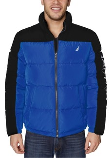 Nautica Men's Water-Resistant Colorblocked Puffer Jacket