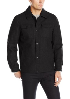 Nautica Men's Wool Melton Snap Front Jacket  L