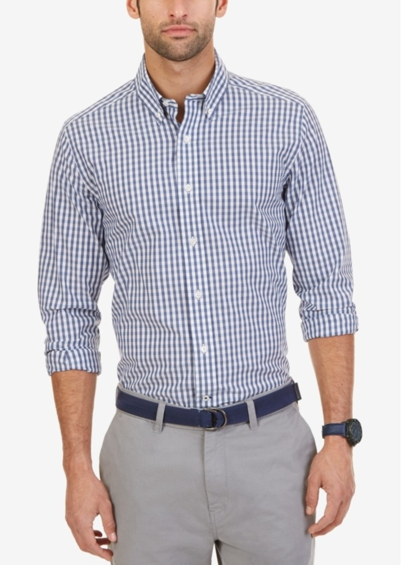 Nautica Men's Wrinkle-Resistant Gingham Shirt