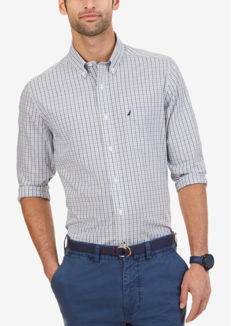 Nautica Men's Wrinkle-Resistant Marigold Plaid Shirt