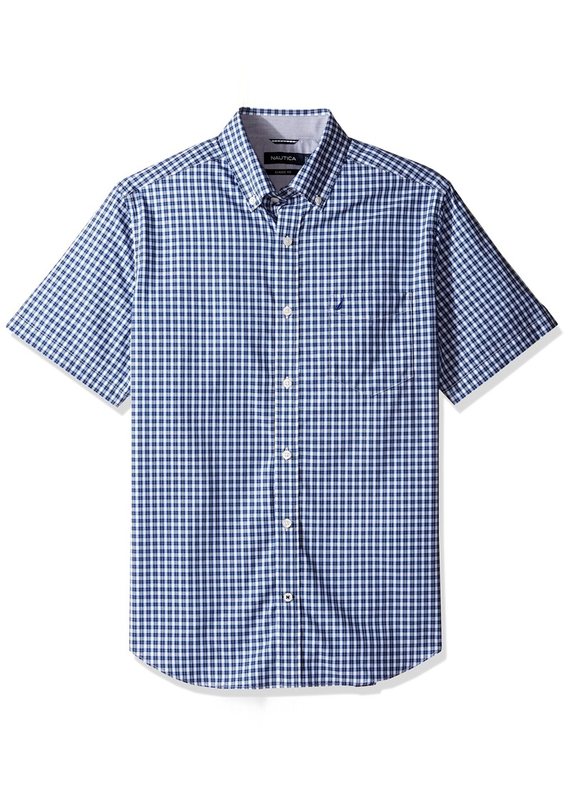 Sale Nautica Nautica Mens Wrinkle Resistant Short Sleeve Plaid