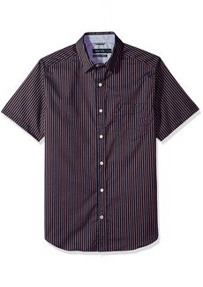 Nautica Men's Wrinkle Resistant Short SLV Print Pattern Button Down Shirt