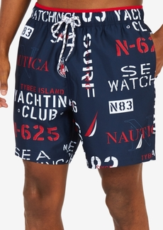 """Nautica Men's Yacht Club 6"""" Swim Trunks"""