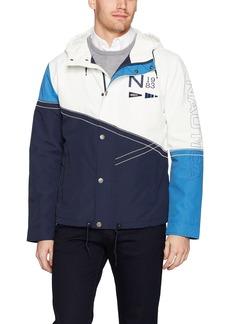 Nautica Men's Zip Front Hooded Heritage Jacket
