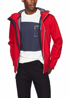Nautica Men's Zip Front Lightweight Rainbreaker Jacket Coat red