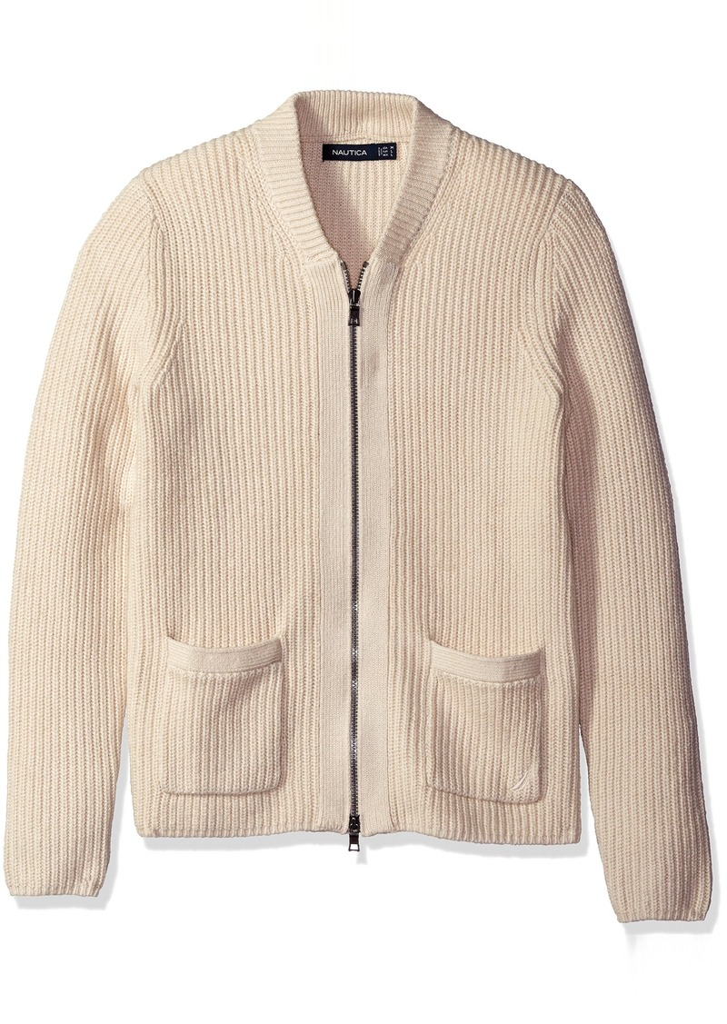 Nautica Nautica Men's Zip Front Shawl Collar Cardigan S | Sweaters ...