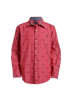 Nautica Mitch Red Rouge Button Down