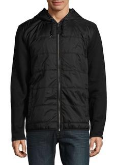 Nautica Mixed-Media Hooded Jacket