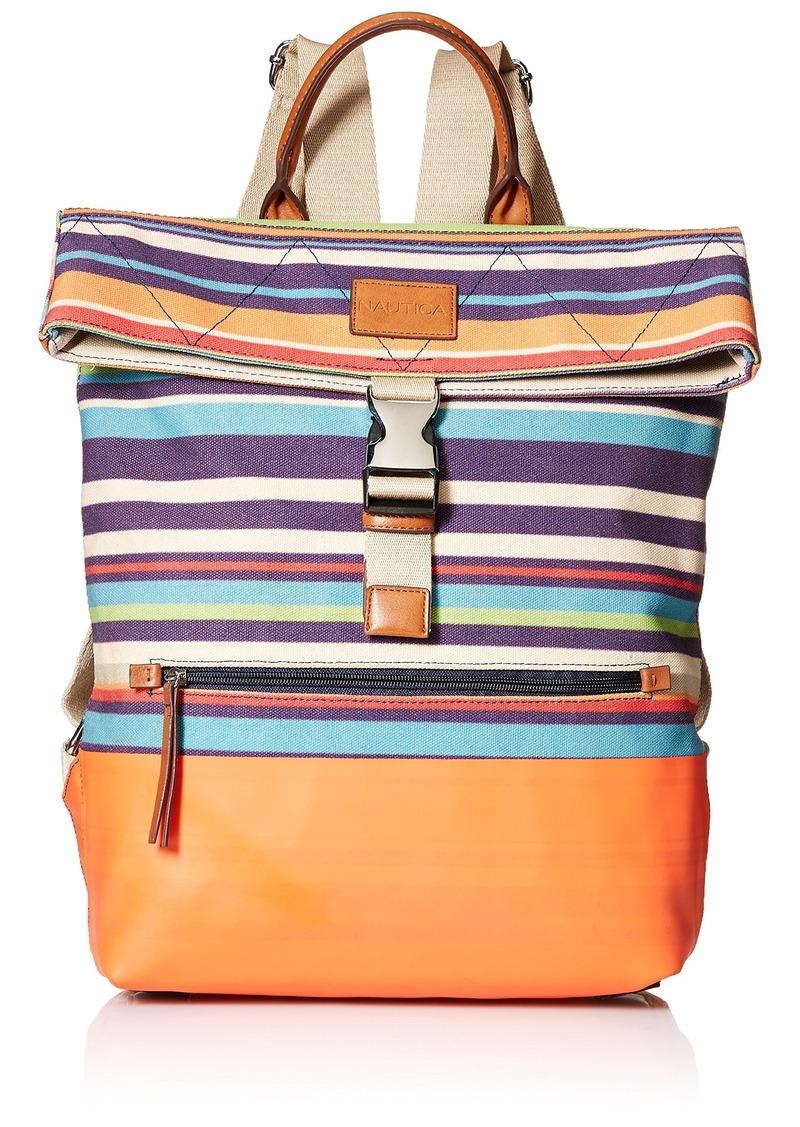 Nautica Modern Trails Backpack bold stripe