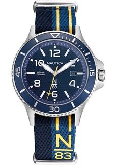 Nautica N83 Men's NAPCBS902 Cocoa Beach Solar Blue/Yellow Fabric Slip-Thru Strap Watch
