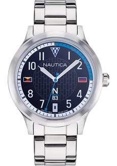 Nautica N83 Men's NAPCFS907 Crissy Field Silver/Blue Stainless Steel Bracelet Watch