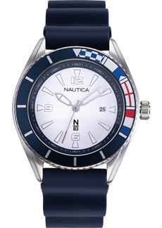 Nautica N83 Men's NAPUSS903 Urban Surf Blue/White Silicone Strap Watch